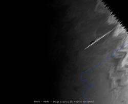 Bólido de Cheliabinsk visto por el Meteosat